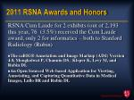 2011 rsna awards and honors11