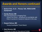 awards and honors continued