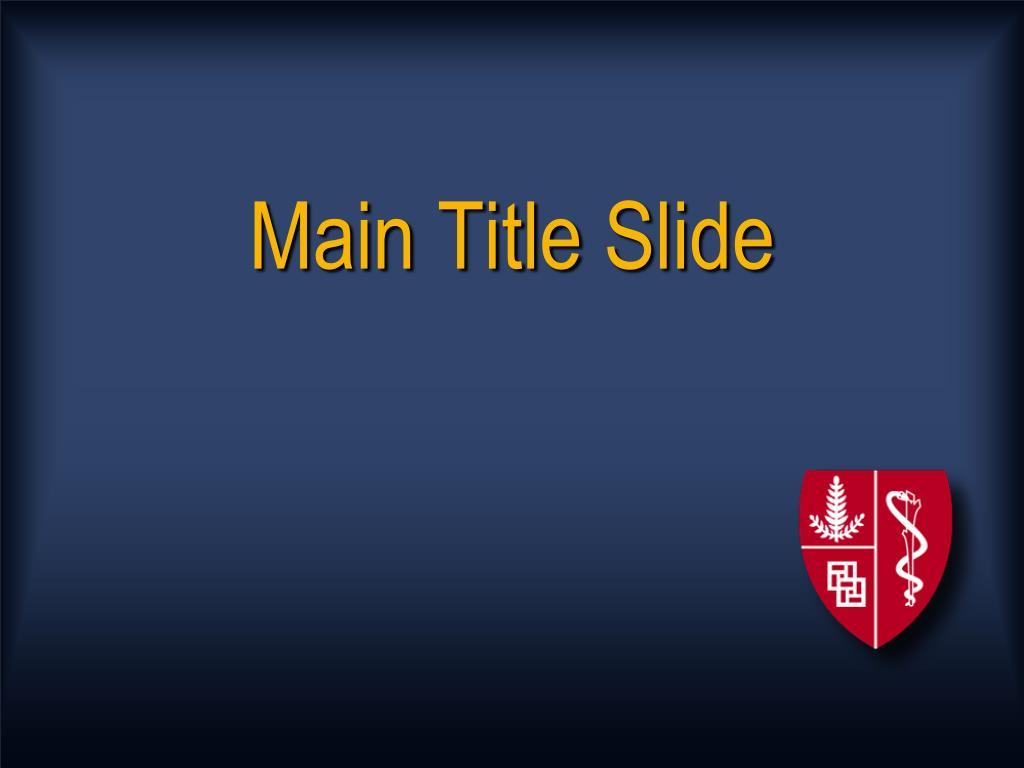 main title slide l.