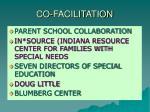 co facilitation