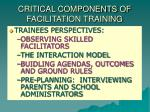critical components of facilitation training