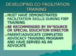 developing co facilitation training