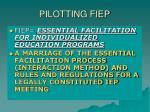 pilotting fiep