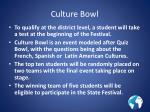 culture bowl