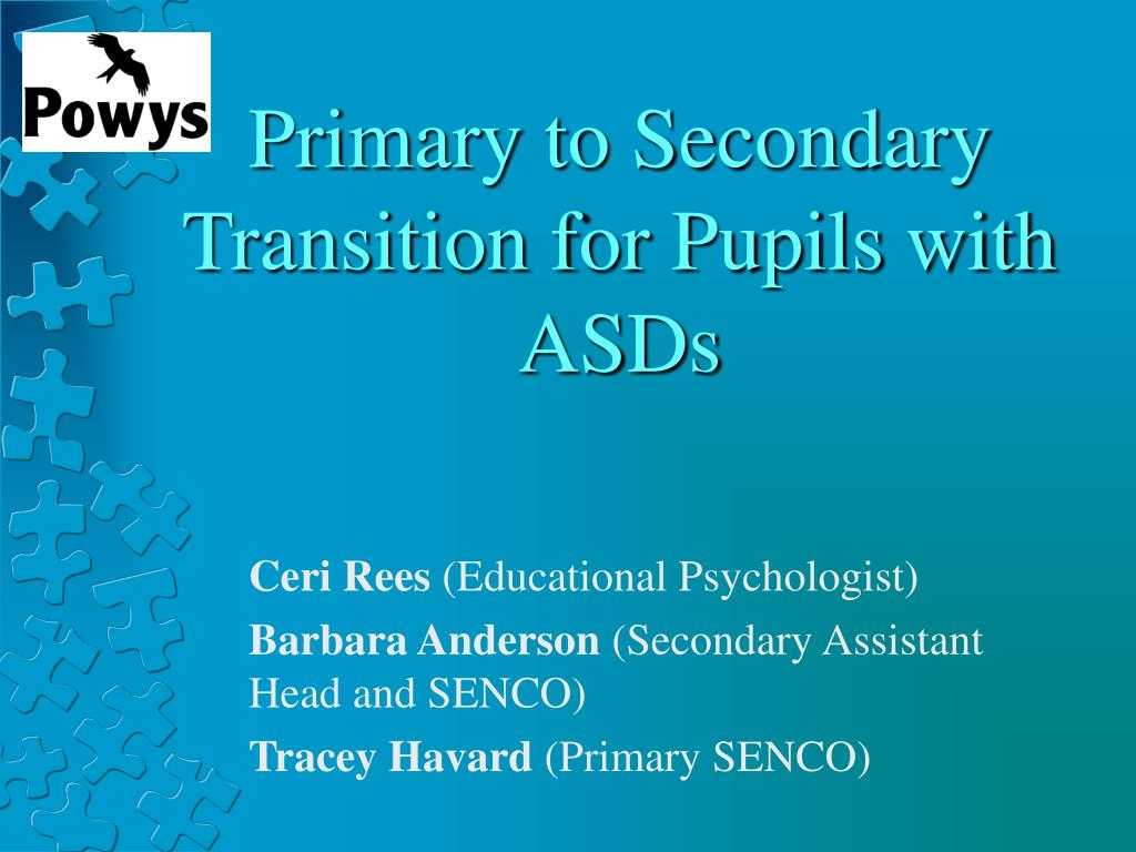 primary to secondary transition for pupils with asds l.