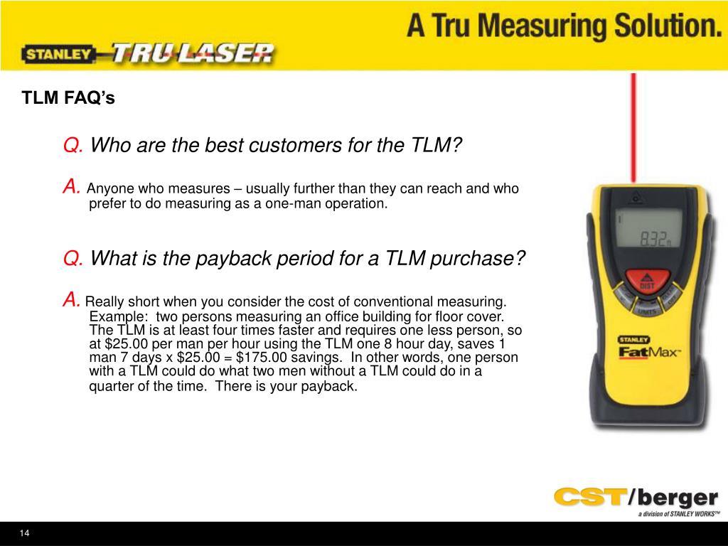 TLM FAQ's