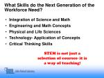 what skills do the next generation of the workforce need