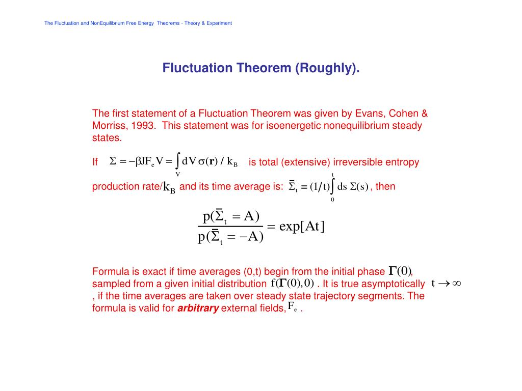 fluctuation theorem roughly l.