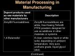 material processing in manufacturing