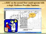 a rhc on the second floor could operate with a single medicare provider numbers