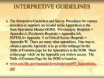interpretive guidelines