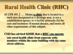 rural health clinic rhc
