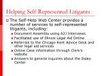 helping self represented litigants