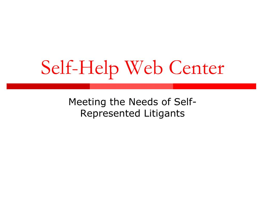 self help web center l.