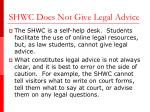 shwc does not give legal advice