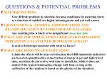 questions potential problems