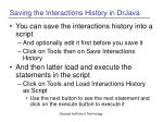 saving the interactions history in drjava