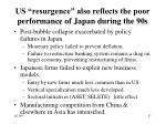 us resurgence also reflects the poor performance of japan during the 90s