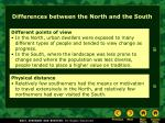 differences between the north and the south37