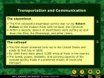 transportation and communication27