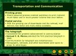 transportation and communication28