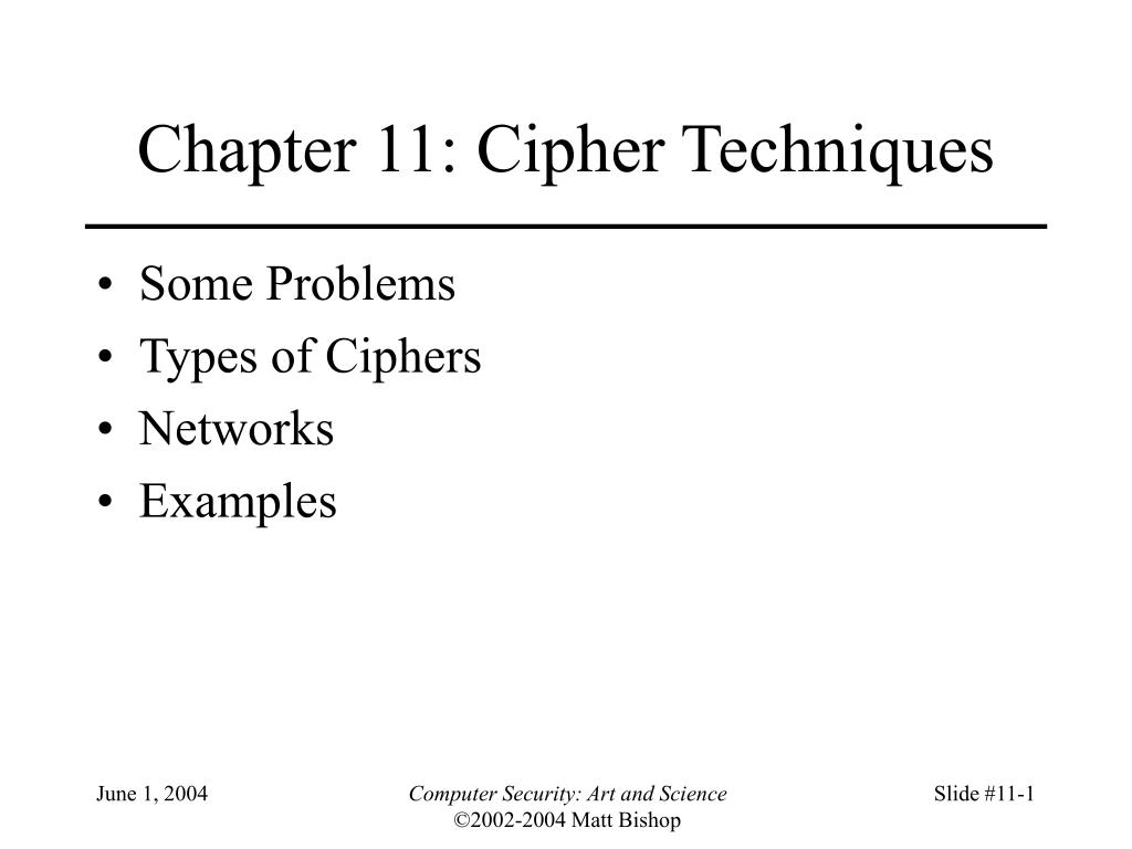 chapter 11 cipher techniques l.