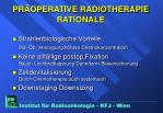 pr operative radiotherapie rationale