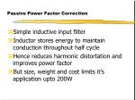 passive power factor correction