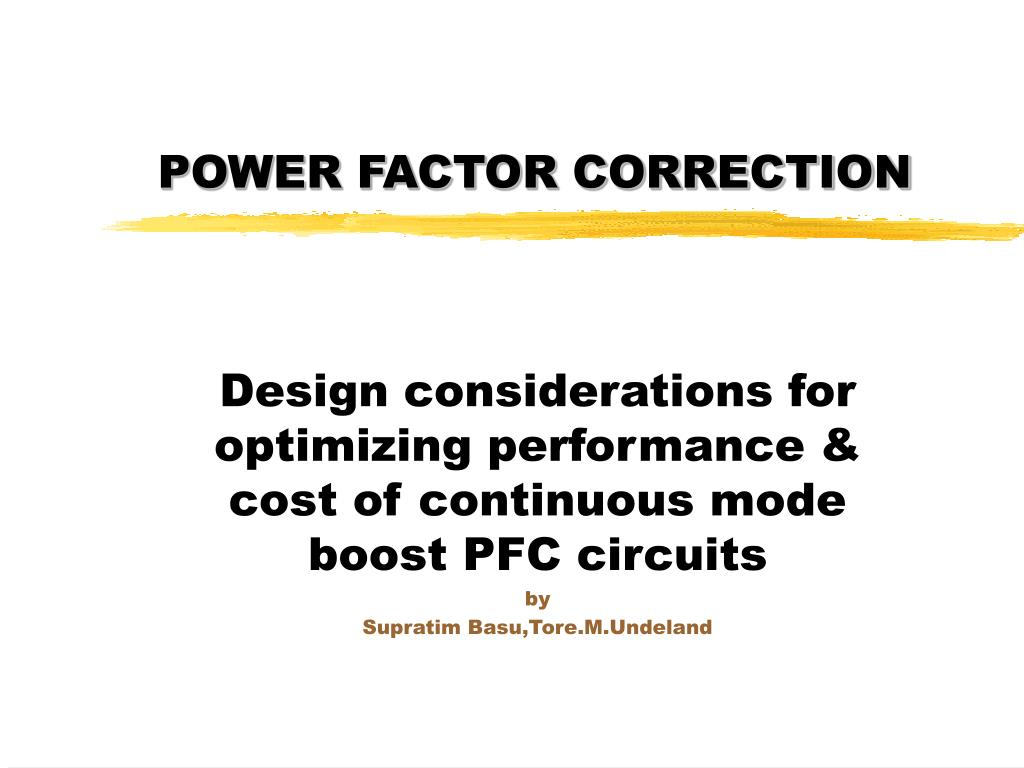power factor correction l.