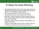 a vision for area working
