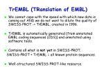 trembl translation of embl
