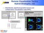 remote visualization tactics hybrid strategies ctd