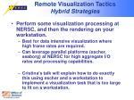 remote visualization tactics hybrid strategies