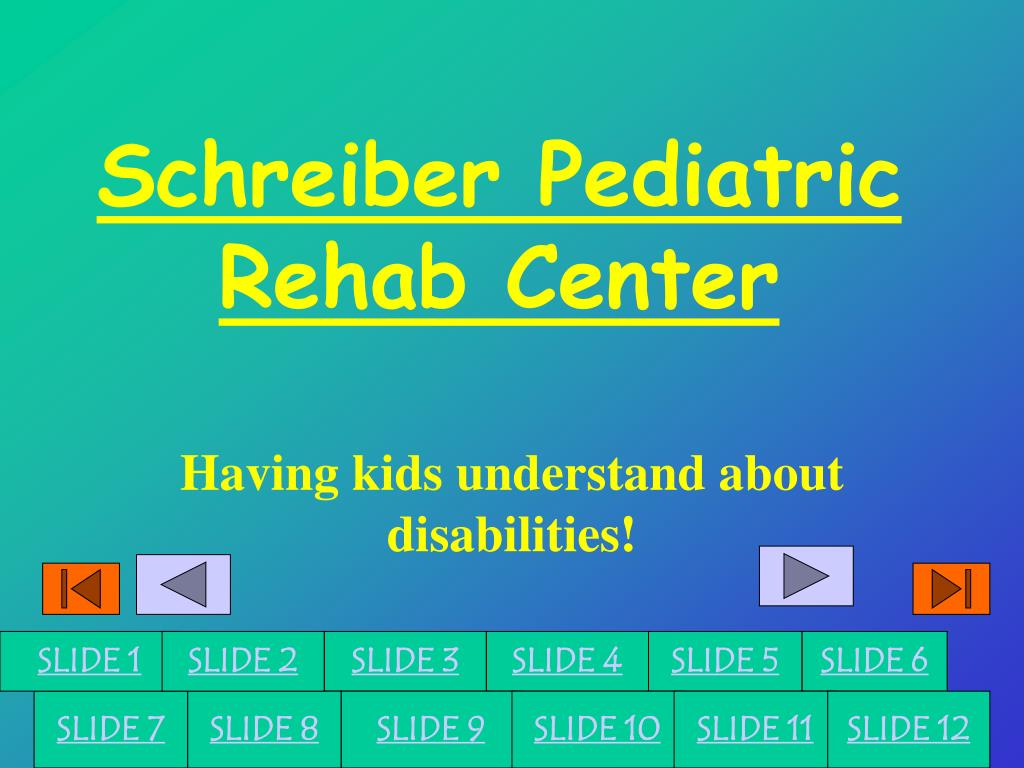 schreiber pediatric rehab center l.