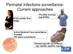 perinatal infections surveillance current approaches