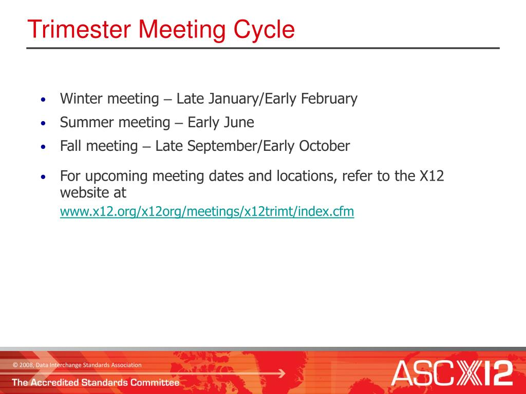Trimester Meeting Cycle