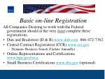basic on line registration
