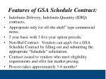 features of gsa schedule contract