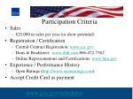 participation criteria22