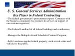 u s general services administration key player in federal contracting