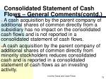 consolidated statement of cash flows general comments contd74