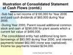 illustration of consolidated statement of cash flows contd