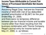 income taxes attributable to current fair values of purchased identifiable net assets contd15