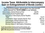 income taxes attributable to intercompany gain on extinguishment of bonds contd55