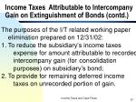 income taxes attributable to intercompany gain on extinguishment of bonds contd57