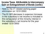 income taxes attributable to intercompany gain on extinguishment of bonds contd58