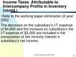 income taxes attributable to intercompany profits in inventory contd37