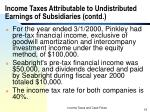 income taxes attributable to undistributed earnings of subsidiaries contd19