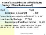 income taxes attributable to undistributed earnings of subsidiaries contd23