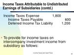 income taxes attributable to undistributed earnings of subsidiaries contd24